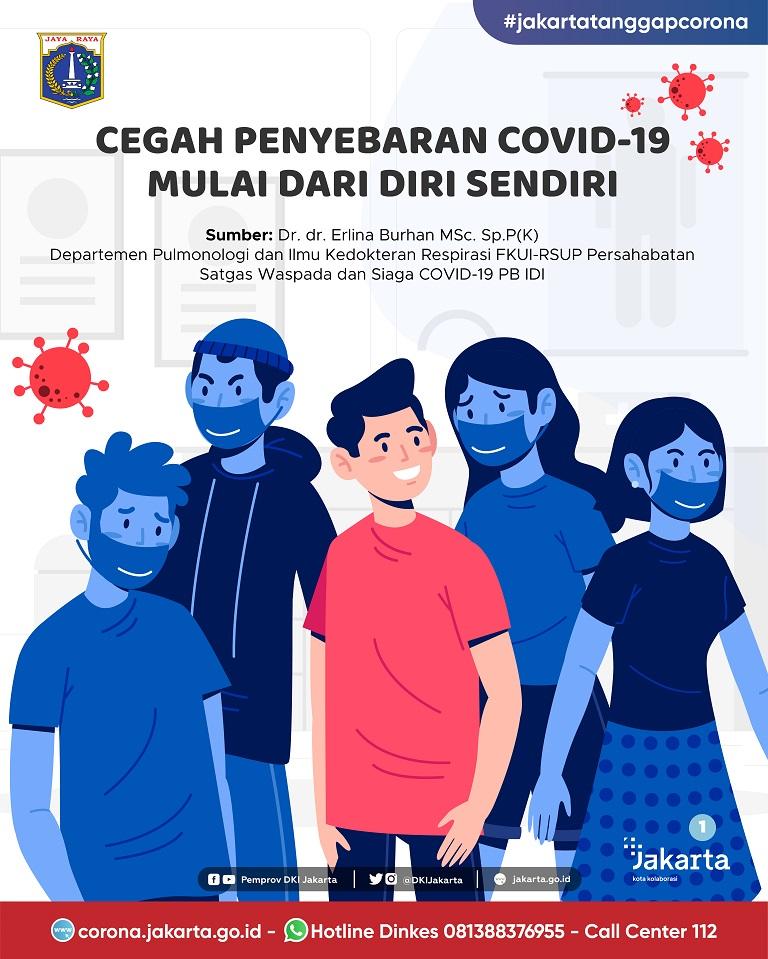 Cegah Penyebaran COVID-19 Mulai dari Diri Sendiri