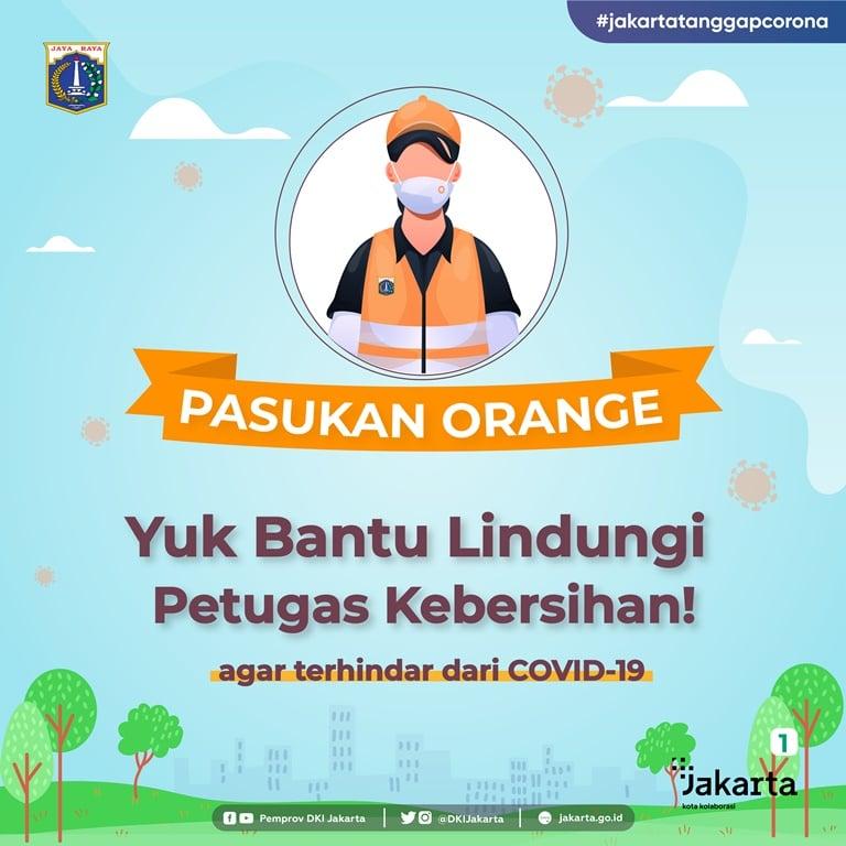 Pasukan Orange, Yuk Bantu Lindungi Petugas Kebersihan