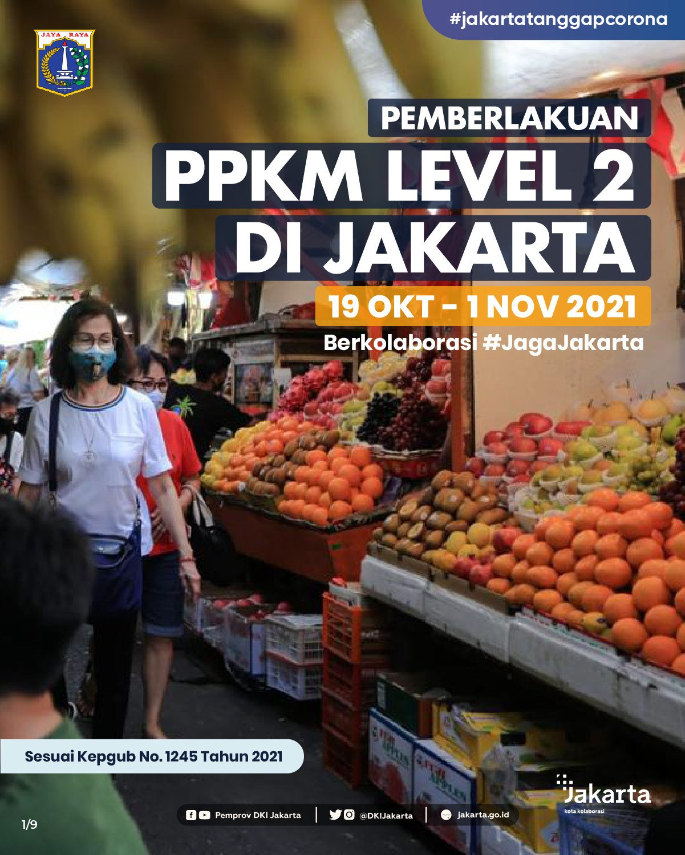 Implementation of PPKM Level 2 in Jakarta