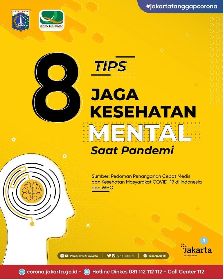 8 TIPS Jaga Kesehatan Mental Saat Pandemi