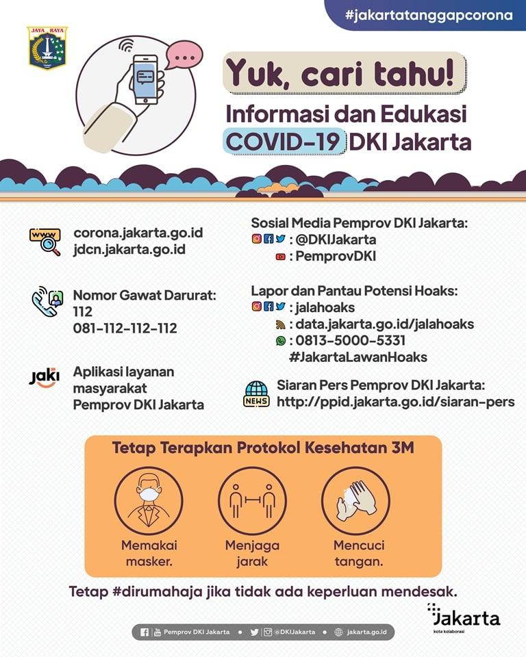 Yuk, cari tahu informasi dan edukasi COVID19 DKI Jakarta