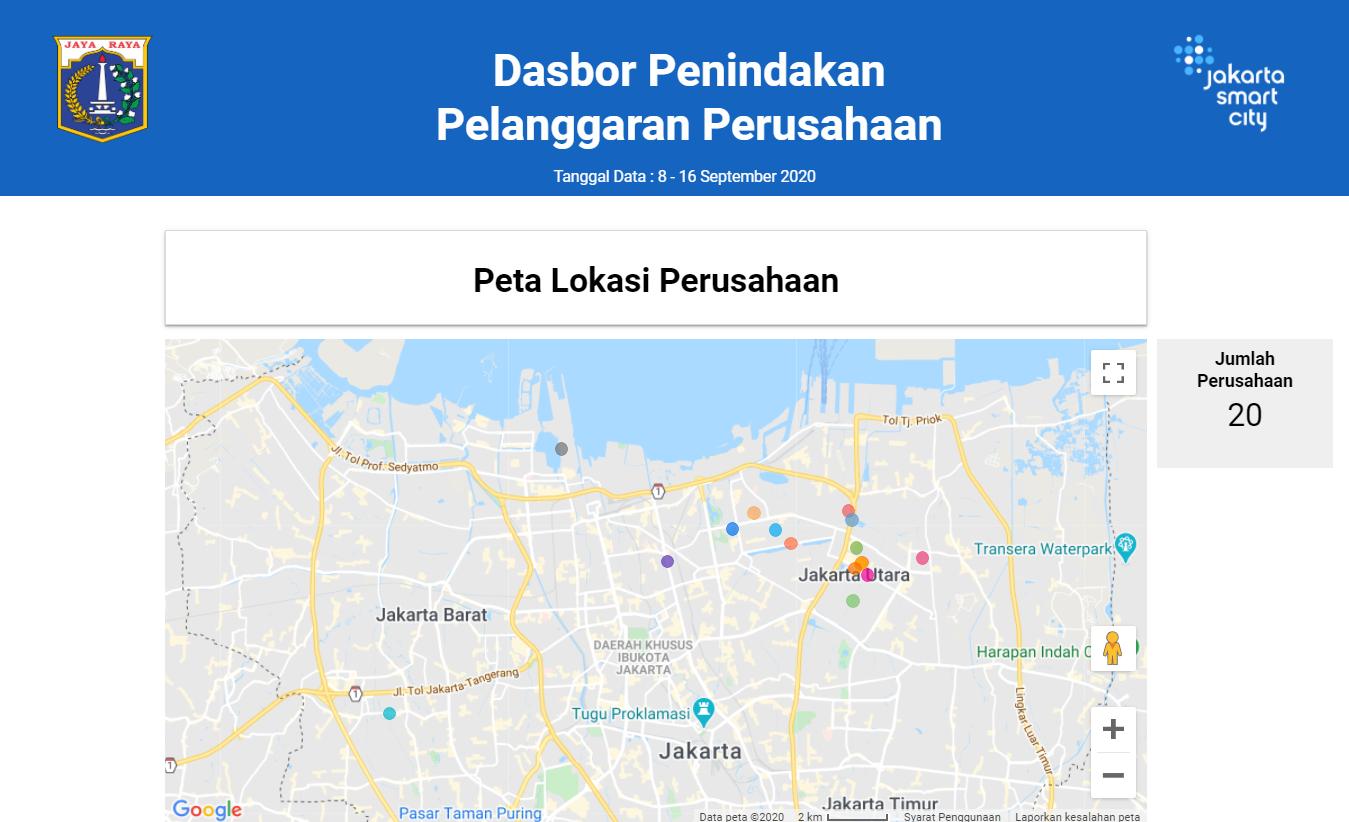 Dasbor Penindakan Pelanggaran Perusahaan